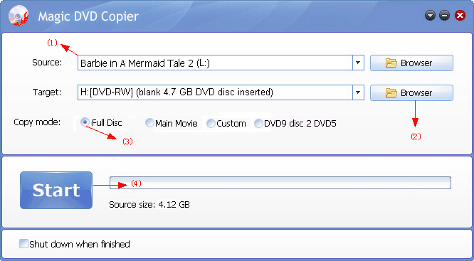 how to copy Barbie in A Mermaid Tale 2 DVD