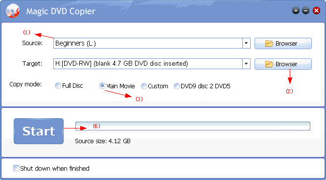 Copy DVD Bignners to blank DVD