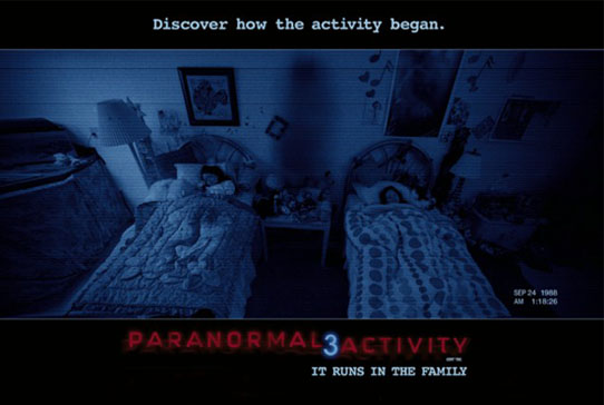 copy Paranormal Activity 3 DVD for thrilling surprises