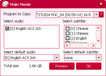 magic dvd copier main movie