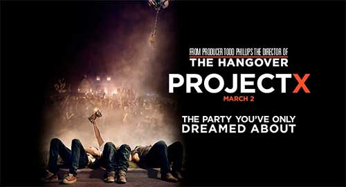 the most anticipated movies in March 2012 - Project X .