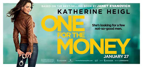 One For the Money DVD Moive poster