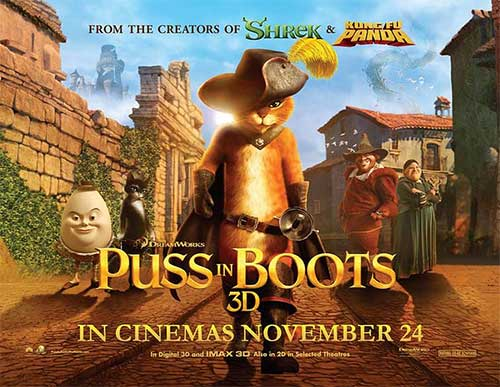 rip Puss in Boots DVD movie - Puss in Boots movie poster