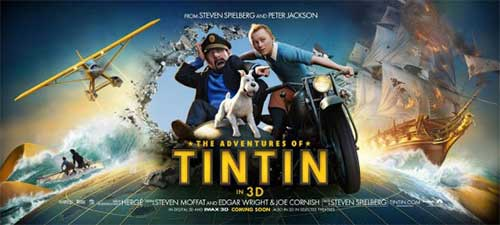 rip The Adventures of Tintin DVD movie to get a copy - The Adventures of Tintin movie poster