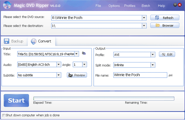 rip Winnie the Pooh DVD with Magic DVD Ripper
