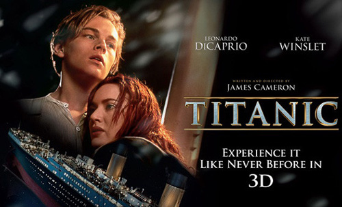 Titanic in 3D as one of the most longed for films in April